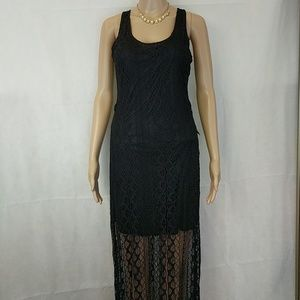 Romeo & Juliet Couture black lace maxi dress Small